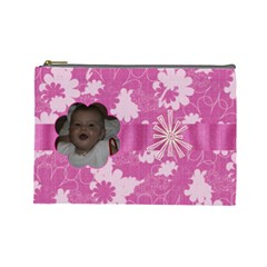 Bubblegum Large Cosmetic Case 2 By Joan T   Cosmetic Bag (large)   05fzo266uumk   Www Artscow Com Front