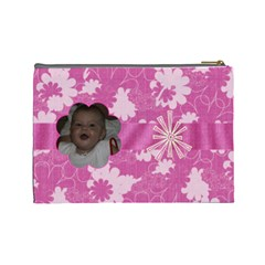 Bubblegum Large Cosmetic Case 2 By Joan T   Cosmetic Bag (large)   05fzo266uumk   Www Artscow Com Back