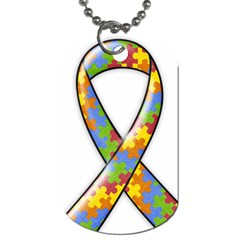 Autism Awareness Dog Tag 2 Sides By Mikki   Dog Tag (two Sides)   6fdnrz820l0n   Www Artscow Com Front