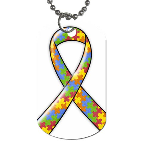 Autism Awareness Dog Tag   1 Side By Mikki   Dog Tag (one Side)   Khvfv7jy3dhg   Www Artscow Com Front