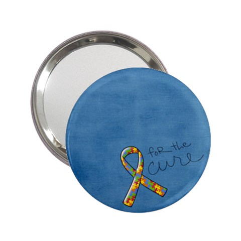 Autism Awareness Small Mirror By Mikki   2 25  Handbag Mirror   Tr3q651x2p7e   Www Artscow Com Front