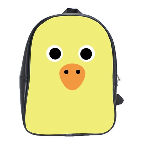 Duck By Wood Johnson   School Bag (large)   U6apktld12fj   Www Artscow Com Front