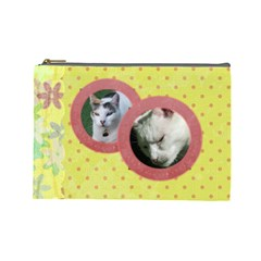 Lazy Days Large Cosmetic Case 1 By Joan T   Cosmetic Bag (large)   Esof841zexul   Www Artscow Com Front