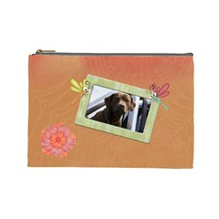 Lazy Days Large Cosmetic Case 2 By Joan T   Cosmetic Bag (large)   Pquah6arbta6   Www Artscow Com Front