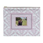 Charming Pink & Black XL Cosmetic Bag - Cosmetic Bag (XL)
