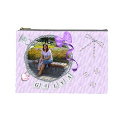 Cosmetic1 By Galya   Cosmetic Bag (large)   Ajwujicye25m   Www Artscow Com Front