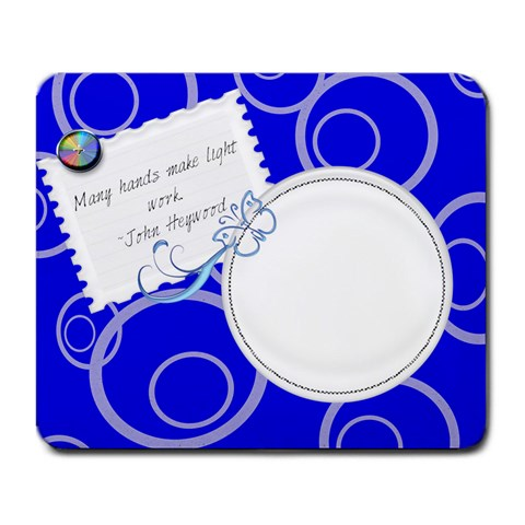 Blue Custom Large Mousepad  By Purplekiss   Large Mousepad   X9r6hwy81wah   Www Artscow Com Front