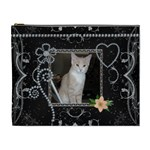 Fancy Black/Diamonds XL Cosmetic Case - Cosmetic Bag (XL)