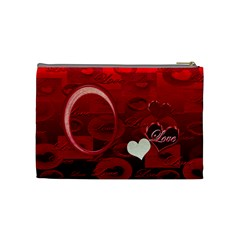 I Heart You Red Love Medium Cosmetic Bag By Ellan   Cosmetic Bag (medium)   79gtzbr6xeah   Www Artscow Com Back