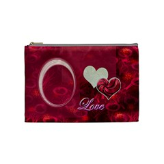 I Heart You Pink Love Medium Cosmetic Bag By Ellan   Cosmetic Bag (medium)   Pfsers4fegeb   Www Artscow Com Front