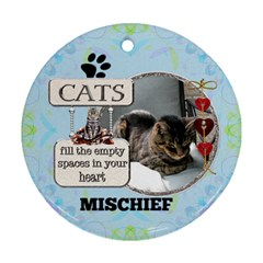 Cat Remembrance 2 Sided Ornament By Lil    Round Ornament (two Sides)   Jg49gvo75iyy   Www Artscow Com Front