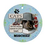Cat Remembrance 2-Sided Ornament - Round Ornament (Two Sides)