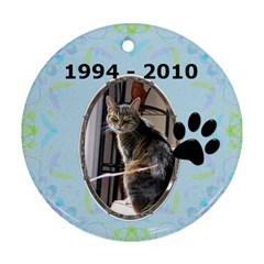 Cat Remembrance 2 Sided Ornament By Lil    Round Ornament (two Sides)   Jg49gvo75iyy   Www Artscow Com Back