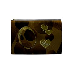 I Heart You Gold Love2 Medium Cosmetic Bag By Ellan   Cosmetic Bag (medium)   8nh5ozuiow8x   Www Artscow Com Front