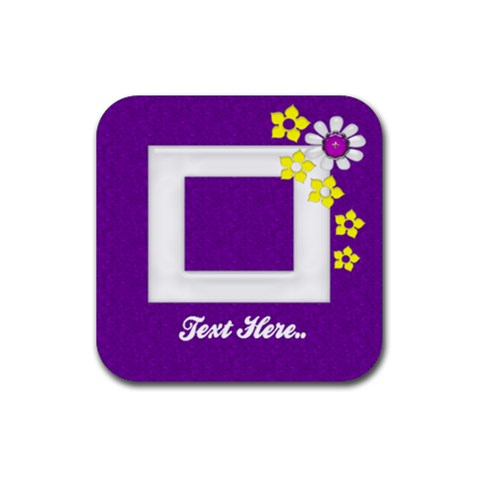 Purple Square Photo Coaster by purplekiss Front