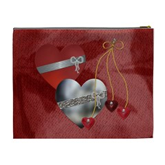Red Hot Love Xl Cosmetic Bag By Lil    Cosmetic Bag (xl)   Y3g4uvz56p1t   Www Artscow Com Back