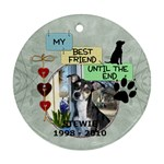 Dog Rememberance One-Sided Ornament - Ornament (Round)