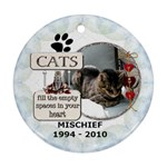 Cat Rememberance One-Sided Ornament - Ornament (Round)