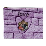love & laughter purple heart extra large cosmetic bag - Cosmetic Bag (XL)