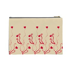 Red Hearts   Cosmetic Bag (large)   By Carmensita   Cosmetic Bag (large)   Bxnkwrkbkgx4   Www Artscow Com Back