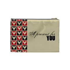 A Present For You      Cosmetic Bag (medium)   By Carmensita   Cosmetic Bag (medium)   Gj5529pwdjir   Www Artscow Com Back