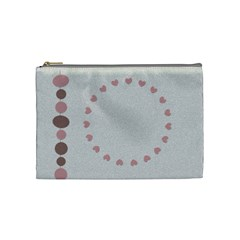 Pink And Brown   Cosmetic Bag (medium)   By Carmensita   Cosmetic Bag (medium)   54ixhv6pbety   Www Artscow Com Front