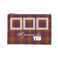 A Present For You      Cosmetic Bag (large)   By Carmensita   Cosmetic Bag (large)   Urp3yovj64nw   Www Artscow Com Front