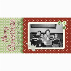 Merry Christmas Card 2 By Martha Meier   4  X 8  Photo Cards   Jyx4cha5qew4   Www Artscow Com 8 x4 Photo Card - 4