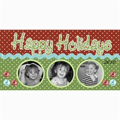Happy Holidays Card 2 By Martha Meier   4  X 8  Photo Cards   Amkegtakii4d   Www Artscow Com 8 x4 Photo Card - 4