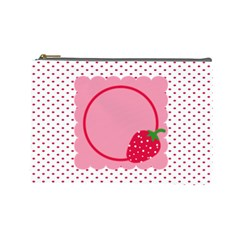 Strawberries Cosmetic Bag L 01 By Carol   Cosmetic Bag (large)   Vj013foo2u7n   Www Artscow Com Front