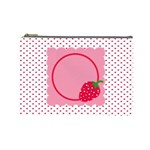 Strawberries cosmetic bag L 01 - Cosmetic Bag (Large)
