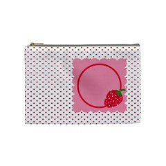 Strawberries Cosmetic Bag M 01 By Carol   Cosmetic Bag (medium)   Jpnpg9zg6flq   Www Artscow Com Front