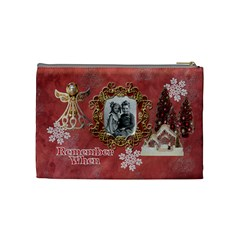 Remember When Christmas Medium Cosmetic Bag By Ellan   Cosmetic Bag (medium)   Qlkj8j4ga5gb   Www Artscow Com Back