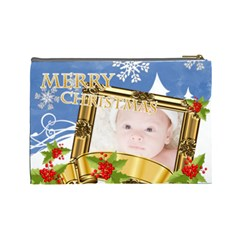 Merry Christmas By Joely   Cosmetic Bag (large)   B38xnw0l57ht   Www Artscow Com Back