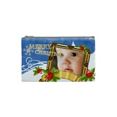 Merry Christmas By Joely   Cosmetic Bag (small)   67j3gi3y1v9z   Www Artscow Com Front
