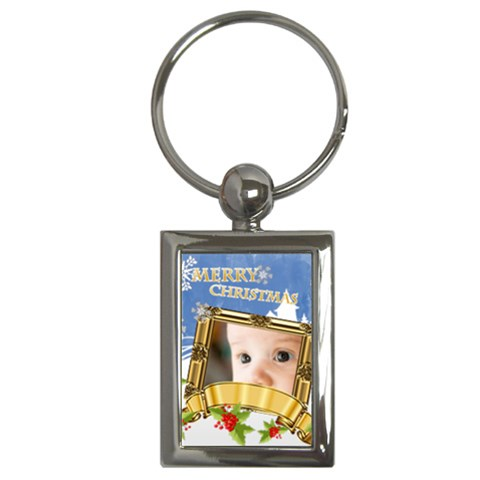 Merry Christmas By Joely   Key Chain (rectangle)   Kfjjiiz14qdc   Www Artscow Com Front