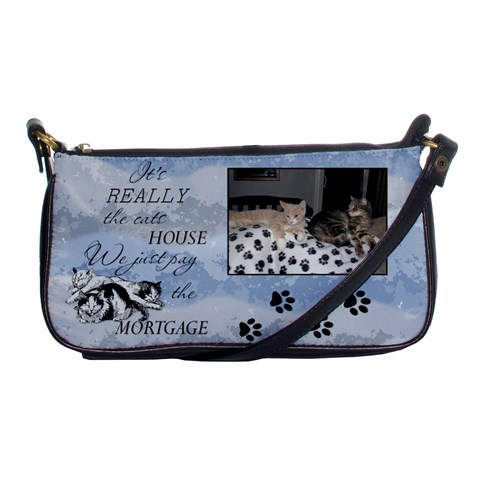 It s Really The Cats House     Shoulder Clutch By Lil    Shoulder Clutch Bag   3rg906co3bpz   Www Artscow Com Front
