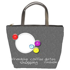 Girlfriends Custom Bucket Bag By Purplekiss   Bucket Bag   Kx1irzbph14z   Www Artscow Com Front