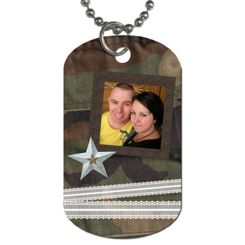 Camo And Lace By The American Homemaker   Dog Tag (one Side)   14esdj21ddn2   Www Artscow Com Front