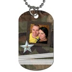 camo and lace - Dog Tag (One Side)