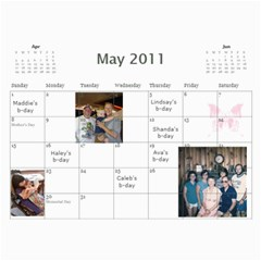 Mom s Calendar 2011 By Sharon Kelley   Wall Calendar 11  X 8 5  (12 Months)   Hwui3c5bl8f1   Www Artscow Com May 2011
