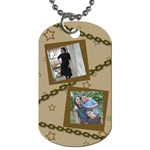 stars and chains - Dog Tag (One Side)