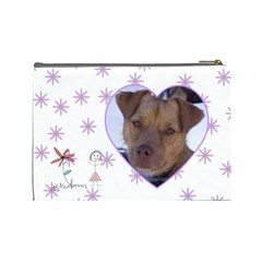 Doodles large Cosmetic Case by Joan T Back