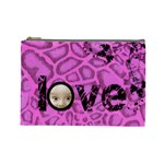 Love you pink animal cosmetic bag - Cosmetic Bag (Large)