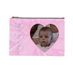 Dahlia Large Cosmetic Case By Joan T   Cosmetic Bag (large)   Jtd7crjtu2c5   Www Artscow Com Front