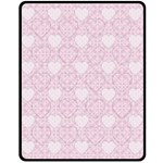 Charming Pink Hearts Medium Fleece Blanket - Fleece Blanket (Medium)