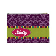 Bright Patterns Large Cosmetic Bag By Klh   Cosmetic Bag (large)   Sh4qpn3gtdqz   Www Artscow Com Back