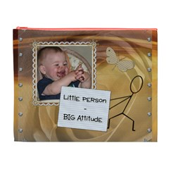 Little Person   Big Attitude Xl Cosmetic Bag By Lil    Cosmetic Bag (xl)   570c4kefup9e   Www Artscow Com Front