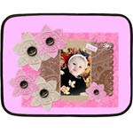pink flower blanket - Mini Fleece Blanket