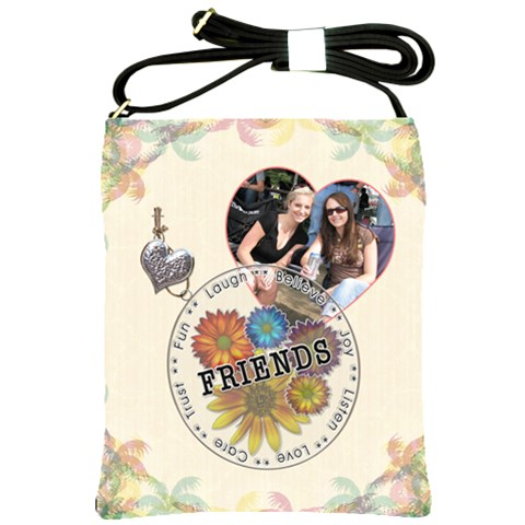 Friends Shoulder Sling Bag By Lil    Shoulder Sling Bag   Quh7oyrt87fx   Www Artscow Com Front
